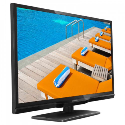 "Philips professional TV, 24"", Easysuite, 1366 x 768p, 250 cd/m², DVB-T2/T/C"