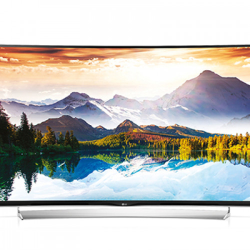 """LG 65"""" 3D SMART CURVED LED TV 65UG870V 4K 3840X2160p 3XHDMI 2XUSB2.0 1XUSB3.0 LAN/WIFI/WEBOS DVB-T2/C/S2 (MPEG-4), SOUND 2.1 10W+10W"""