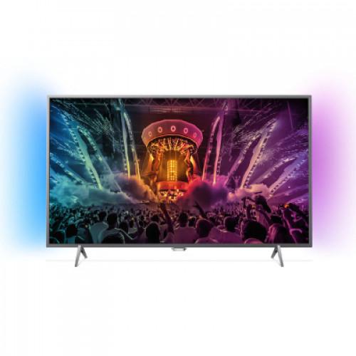 "Philips Android™ Ambilight LED TV 43"" 43PUS6401/12 PPI-1000 UHD 3840x2160p 350cd 4xHDMI 3xUSB LAN WiFi DVB-T/T2/C/S/S2, 20W"